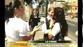 Estudiantes UNI respondieron satisfactoriamente preguntas de cultura general en reportaje