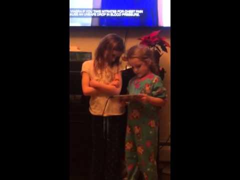 Cuteness! Paige & Olivia Karaoke