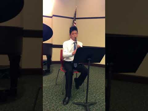 Justin Xiao, Mozart Concerto for Clarinet, May 2018