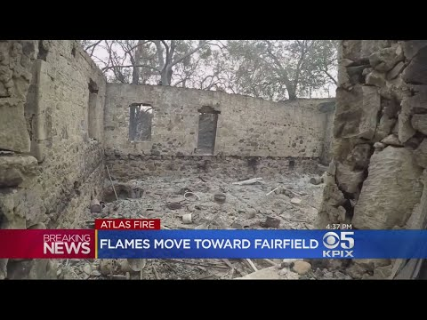 Atlas Fire Creeps Into Fairfield, Forcing Evacuation Of Green Valley Road