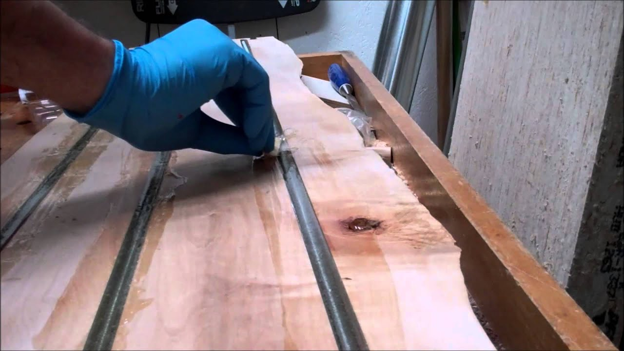 Reinforcing The Bench With Gorilla Glue Epoxy Threaded Rod