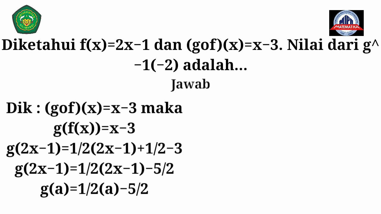 Pembahasan Soal UN SMA matematika - YouTube