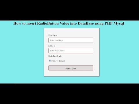 how to insert a radio button value into database using PHP Mysql