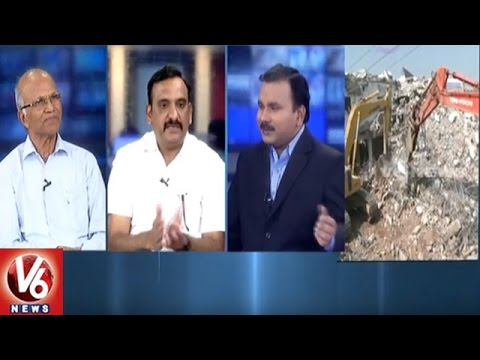 Special Discussion On Under Construction Building Collapse Incident | Hyderabad | V6 News