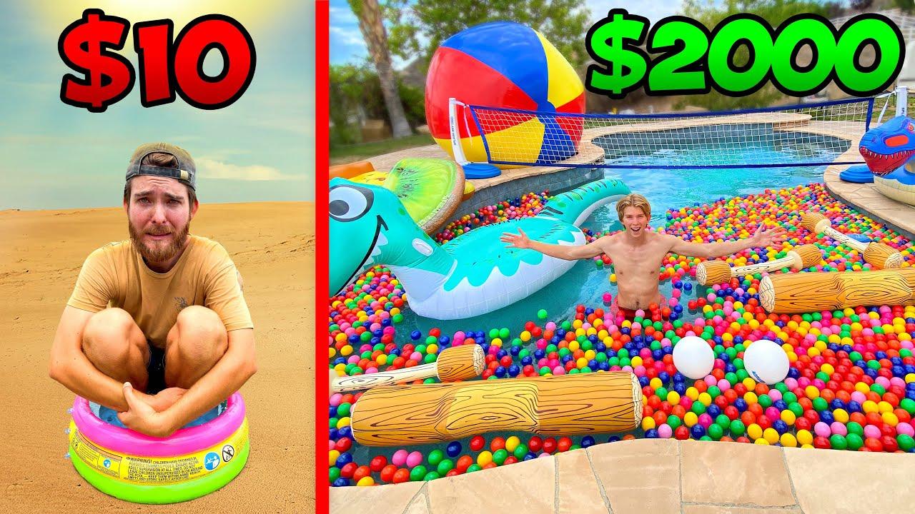 Download $10 vs $2000 Pool Parties! *BUDGET CHALLENGE*