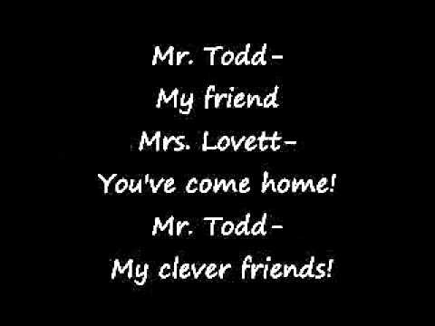 Sweeney Todd- My friends (lyrics)