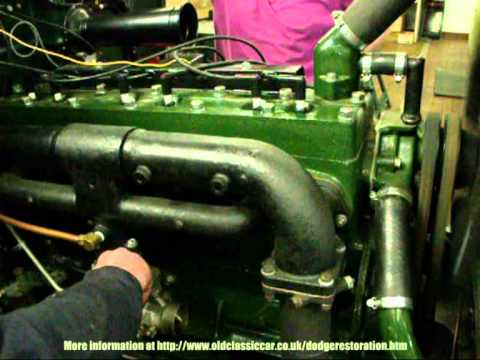 Used Car Engines >> Vintage Dodge truck - first engine run January 2011 - YouTube