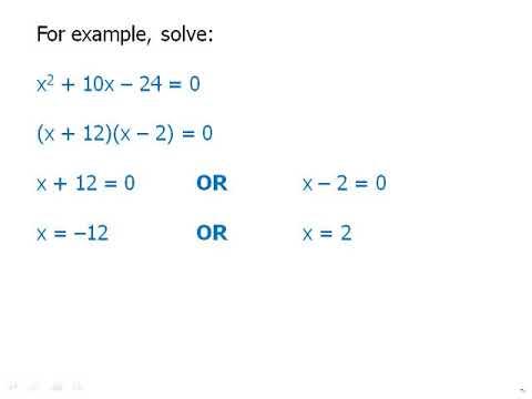 Algebraic Expressions: Quadratic Equations