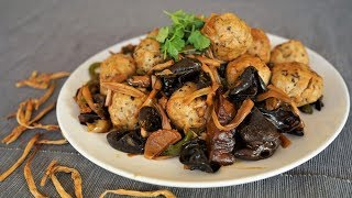 Steamed Chinese Chicken Fish and Pork Balls - Morgane Recipes