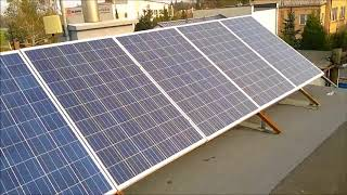 Mini elektrownia słoneczna,solarna, fotowoltaiczna 7x250W test