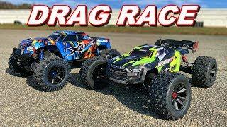 Arrma Kraton 8S VS Traxxas XMAXX DRAG RACE - Who Will Win? - TheRcSaylors