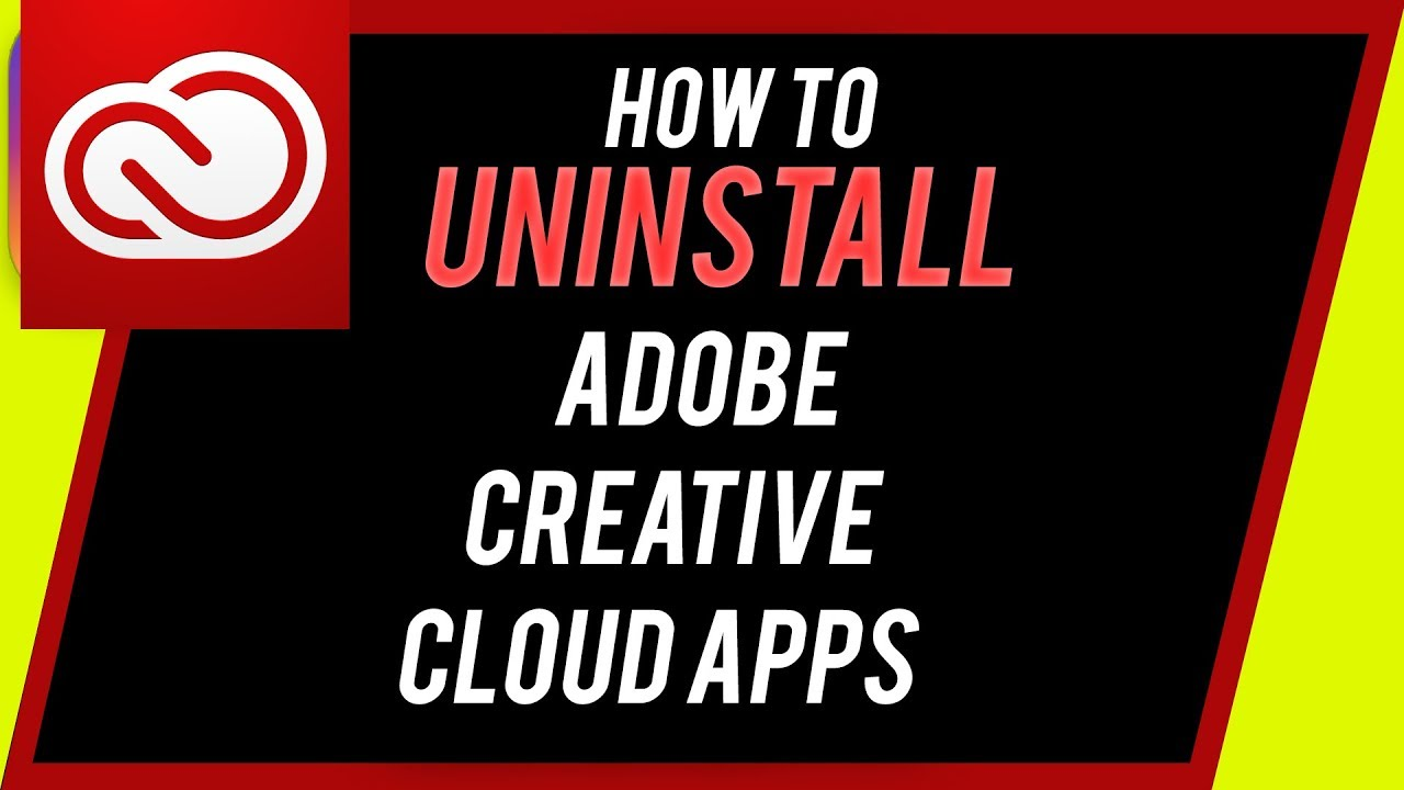 How to Uninstall any Adobe Creative Cloud Application on Mac - Photoshop,  Premiere