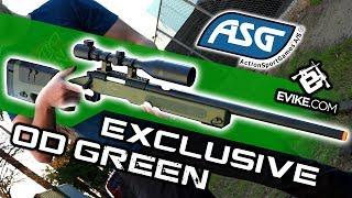 EVIKE.COM EXCLUSIVE - ASG McMillan USMC M40A3 SportLine Sniper Rifle OD Green
