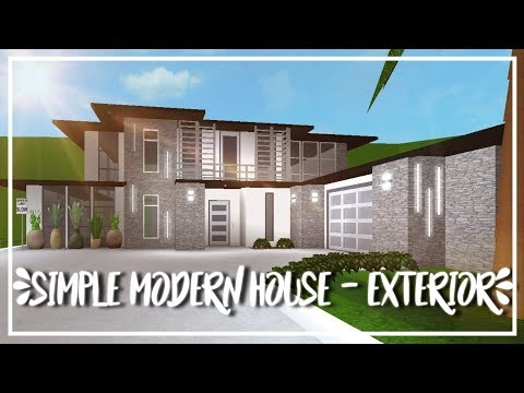 ROBLOX | Welcome to Bloxburg - Speed Build : Simple Modern ...