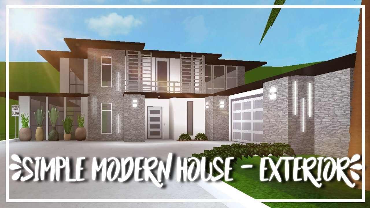 ROBLOX | Welcome to Bloxburg - Speed Build : Simple Modern House (Exterior)
