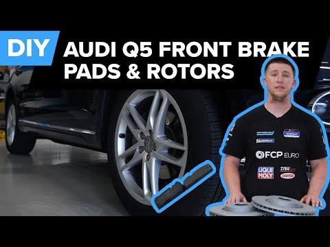 Audi Q5 Front Brake Rotor And Brake Pad Replacement DIY (Audi MLB Q5/SQ5 2013-2017)