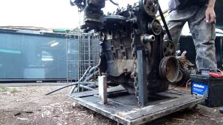 Damaged Vw 4 Cylinder Engine Torture