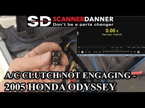 AC clutch not engaging  2005 Honda Odyssey  YouTube