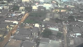 Lagos landing Qatar airways