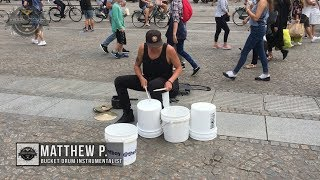 Matthew Pretty - The Bucket Boy From Las Vegas Performing At The Dam Square In Amsterdam 2017!