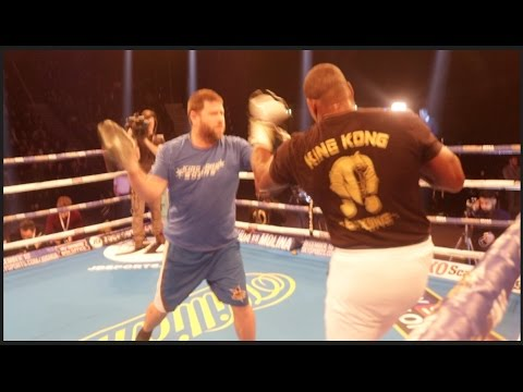 BEAST!! LUIS ORTIZ EXPLOSIVE PAD WORKOUT IN MANCHESTER: JOSHUA v MOLINA
