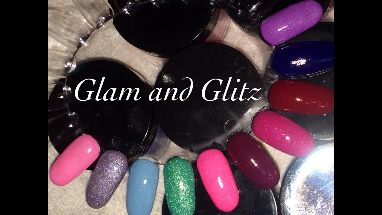 Glam And Glitz Acrylic Swatches You