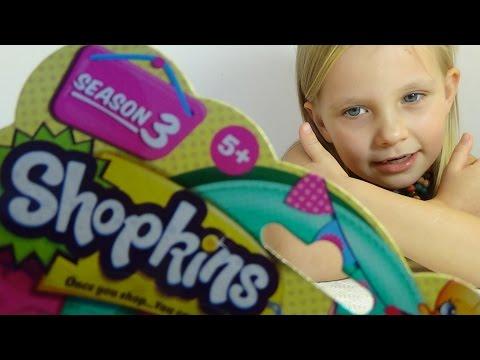 Николь Шопкинсы пакетик с игрушкой и сюрприз распаковка Shopkins surprise  bags with toys