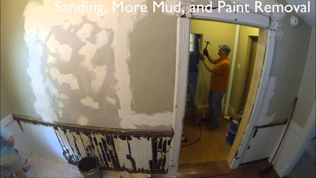 Diy Load Bearing Wall Door Opening Move Youtube
