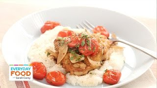Chicken Parmesan with Grits and Tomatoes - Everyday Food with Sarah Carey