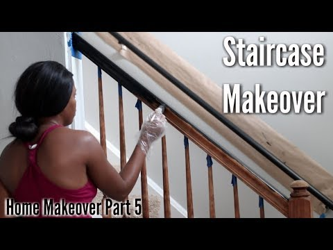 ✨Glam Home✨ HOME MAKEOVER PART 5 | Staircase Banister Makeover