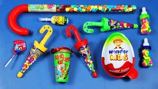 Learn Colors with Number Counting A lot of New Candy & Surprise Eggs | Video for Children