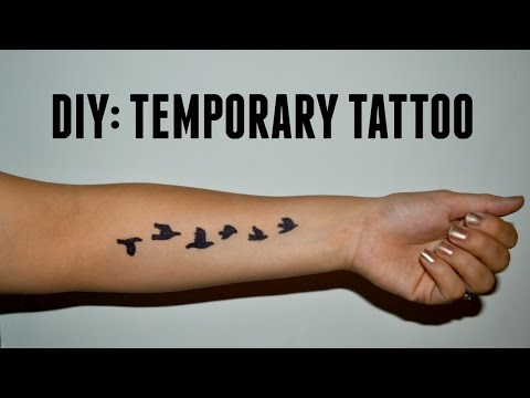 DIY: Temporary Tattoo - YouTube
