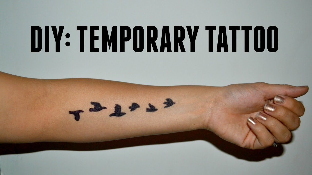 023cefe9b DIY: Temporary Tattoo - YouTube