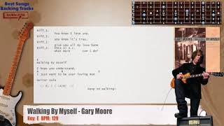 🎸 Walking By Myself - Gary Moore Guitar Backing Track with chords and lyrics