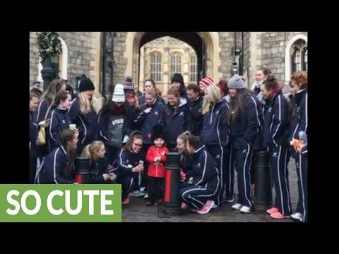 World's cutest mini guard celebrates birthday at Windsor Castle