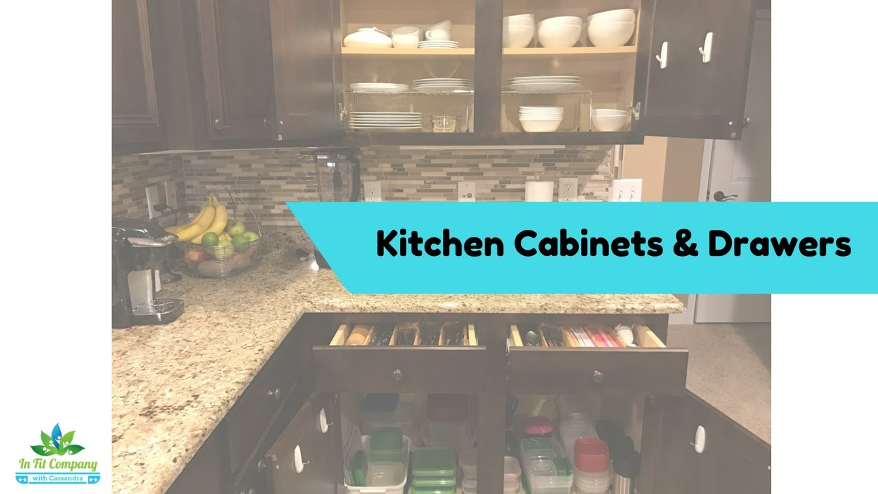 Organizing Cabinets and Drawers - #5 in Kitchen Organization - YouTube