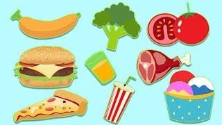 Healthy v/s Unhealthy Food - Learning Food - Educational Video For Kids
