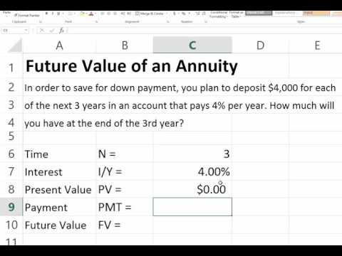Future Value of an Ordinary Annuity in Excel