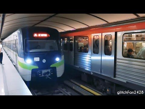 [Attiko Metro] Trains at Evangelismos Station in Athens, Greece - 2019