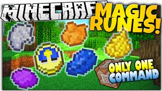 Minecraft | MAGIC RUNES! | FREEZE TIME, MELT, & MORE | Only One Command (Minecraft Vanilla Mod)