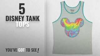 Top 10 Disney Tank Tops [Winter 2018 ]: Fashion Disney Mickey Mouse Melt Gray Graphic Tank Top