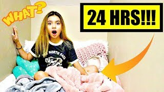 24 HOUR OVERNIGHT CHALLENGE IN MY CLOSET  ⏰