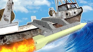 BUILDING A BOAT TO SURVIVE A TSUNAMI! - Garry's Mod Gameplay