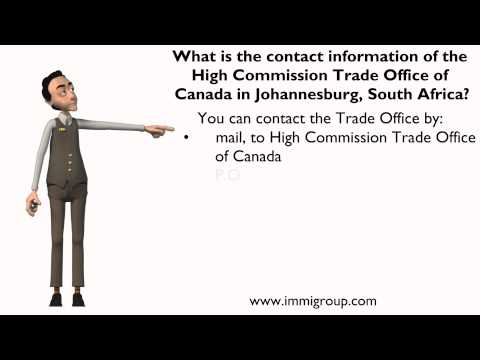 Contact information of High Commission Trade Office of Canada in Johannesburg, South Africa