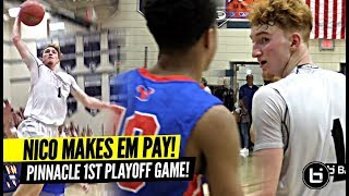 Nico Mannion vs TRASH TALKING Crowd In Playoffs!! Nico Responds w/ HUGE 35 Points in 1st Round!!