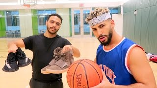 getlinkyoutube.com-1 on 1 BASKETBALL GAME FOR 2 PAIRS OF YEEZYS!!!!