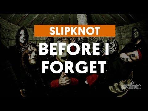 Before I Forget – Slipknot (aula de guitarra)