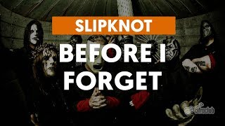 Before I Forget - Slipknot (aula de guitarra)