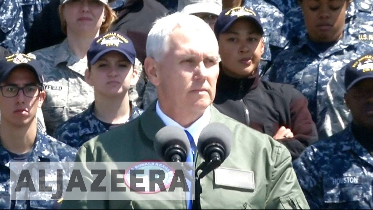 Mike Pence fires fresh warning to North Korea