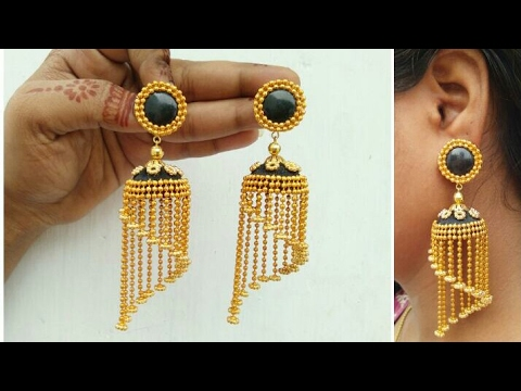 How To Make Designer Earrings // How To Make Paper Earrings // Paper Jewellery Making //DIY